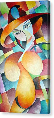 Canvas Print featuring the painting Woman by Dorothy Maier