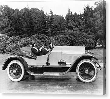 Woman Driving A Stutz Roadster Canvas Print