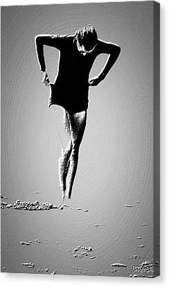 Woman Emerging -- Version A Canvas Print by Brian D Meredith