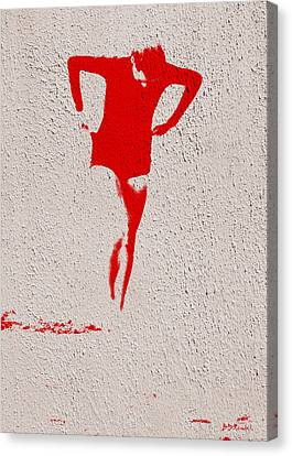 Woman Emerging -- Version J Canvas Print by Brian D Meredith