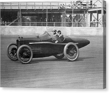 Woman Goes100 Mph In 1920 Canvas Print by Underwood Archives