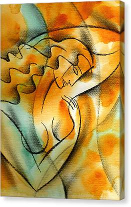 Woman Health Canvas Print by Leon Zernitsky