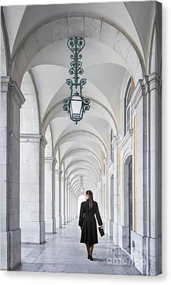 Woman In Archway  Canvas Print by Carlos Caetano