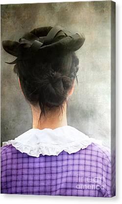 Woman In Black Hat Canvas Print by Stephanie Frey
