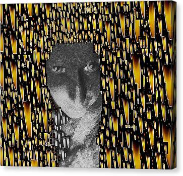 Woman In Flames Canvas Print by Pepita Selles