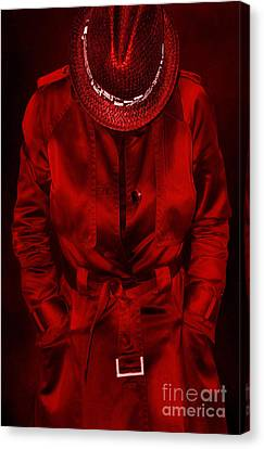 Woman In Red Canvas Print by Svetlana Sewell