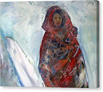 Patricia Taylor Canvas Print - Woman In The Snow by Patricia Taylor