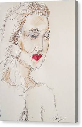 Woman In Thought Canvas Print