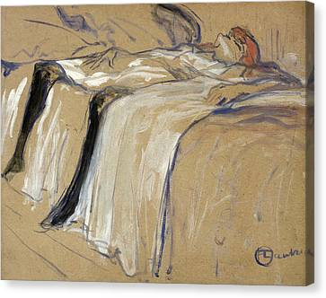 Woman Lying On Her Back Canvas Print