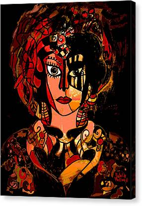 Woman Of Mystery Canvas Print by Natalie Holland