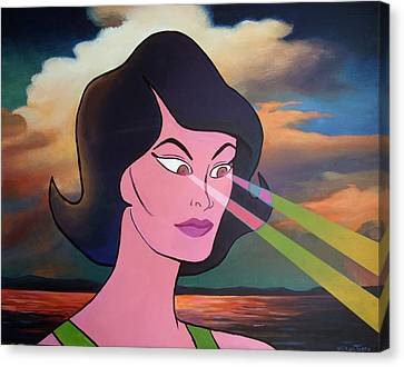 Woman Of The Future Canvas Print by Geoff Greene