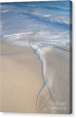 Canvas Print featuring the photograph Woman On Beach by Chris Scroggins