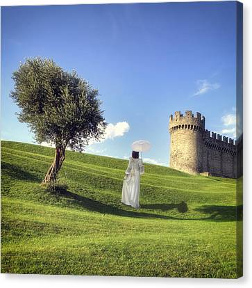 Woman On Meadow Canvas Print by Joana Kruse