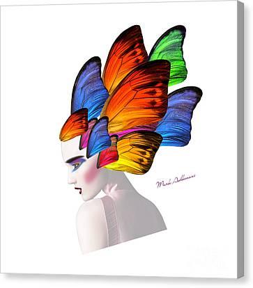 Woman Portrait Butterfly  Canvas Print by Mark Ashkenazi