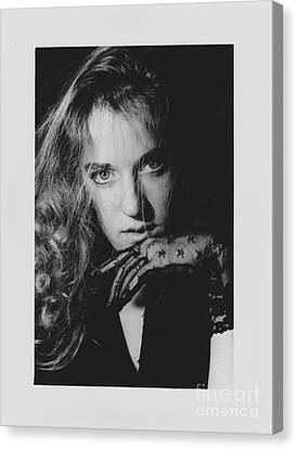 Canvas Print featuring the photograph Woman Portrait by Jeepee Aero