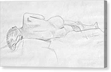 Woman Reclining Canvas Print