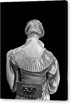 Woman Rubbing Her Neck Canvas Print by Underwood Archives