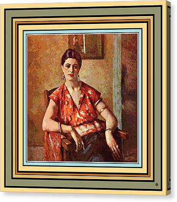 Woman Sitting In Chair Canvas Print by Gary Grayson