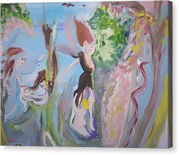 Woman The Nurturer Canvas Print by Judith Desrosiers