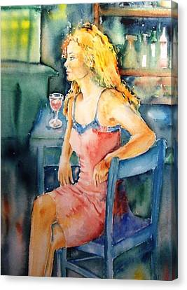 Woman Waiting  Canvas Print by Trudi Doyle