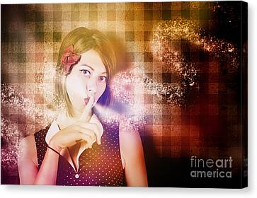 Woman Whispering A Magical Secret Canvas Print by Jorgo Photography - Wall Art Gallery