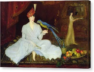 Woman With A Parrot, 1905 Oil On Canvas Canvas Print