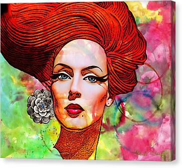Woman With Earring Canvas Print by Chuck Staley