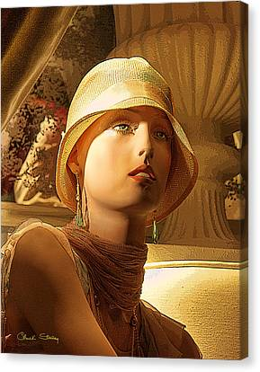 Woman With Hat - Chuck Staley Canvas Print by Chuck Staley
