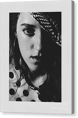 Canvas Print featuring the photograph Woman With Hat by Jeepee Aero
