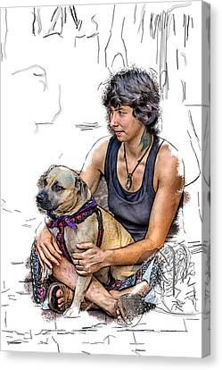 Womans Best Friend Canvas Print by John Haldane