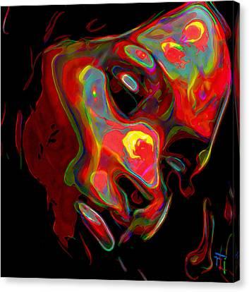 Designs On Face Canvas Print - Womans Essence 5 by  Fli Art