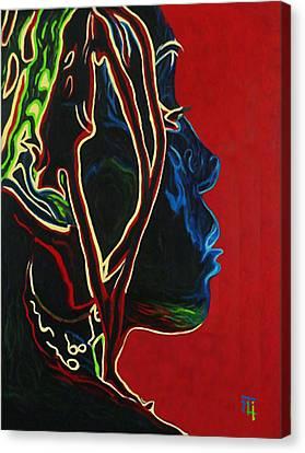 Womans Essence  Canvas Print by  Fli Art