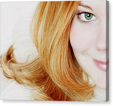 Womans Face Canvas Print by Darren Greenwood