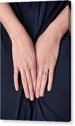 Woman's Hands Canvas Print