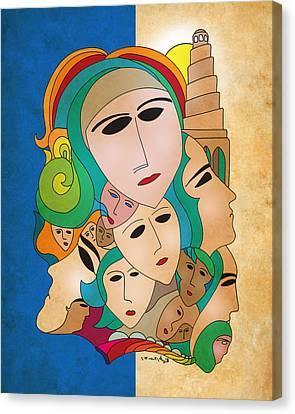 Women From Mesopotamia Canvas Print