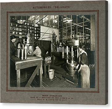 Women In Munitions Factory Canvas Print by Science, Industry And Business Library/new York Public Library