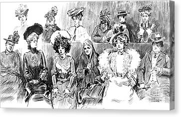 Women Jurors 1902 Canvas Print by Padre Art