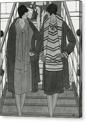 Women Wearing Chanel Canvas Print by Pierre Mourgue