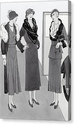 Women Wearing Clothing By Bendel's Canvas Print by Polly Tigue Francis