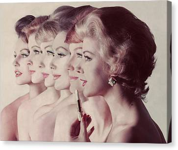 Women Wearing Revlon Lipstick Canvas Print by John Rawlings