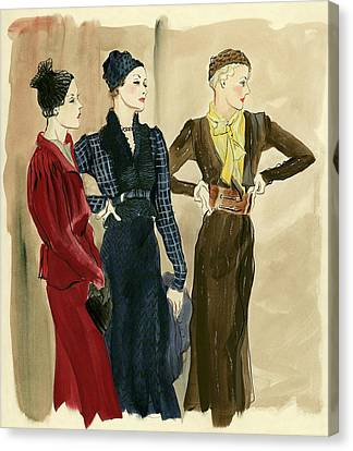Women Wearing Schiaparelli Canvas Print