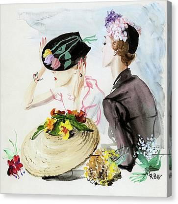 Women Wearing Suzy Hats Canvas Print