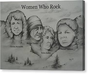 Women Who Rock 2 Canvas Print by Catherine Howley