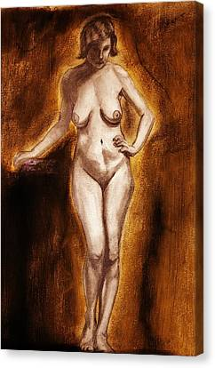Canvas Print featuring the drawing Women With Curves Are Beautiful 2 by Michael Cross