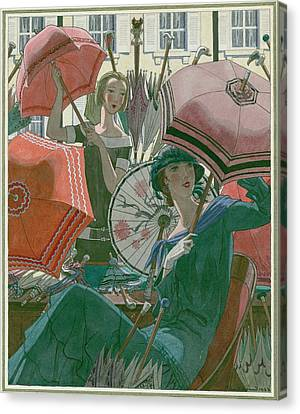 Women With Parasols Canvas Print