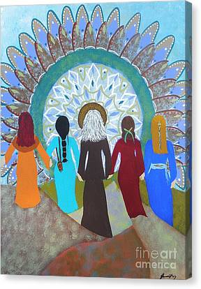 Women's Circle Mandala Canvas Print