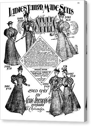 Women's Fashion, 1897 Canvas Print by Granger