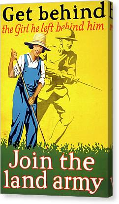 Women's Land Army Recruitment Poster Canvas Print by Library Of Congress