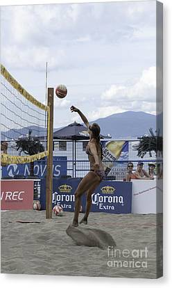 Women's Volleyball Game Canvas Print