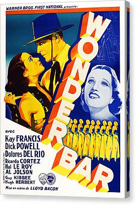 Wonder Bar, French Poster, From Left Canvas Print by Everett
